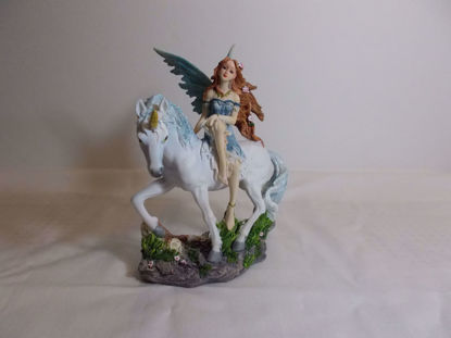 Picture of Blue Fairy And Unicorn Figurine