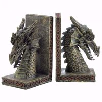 Picture of Horned Dragon Head Bookends