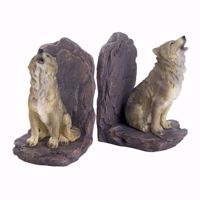 Picture of Howling Wolf Bookends