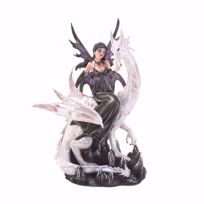 Picture of Night Tide Fairy with White Pearl Dragon Figurine