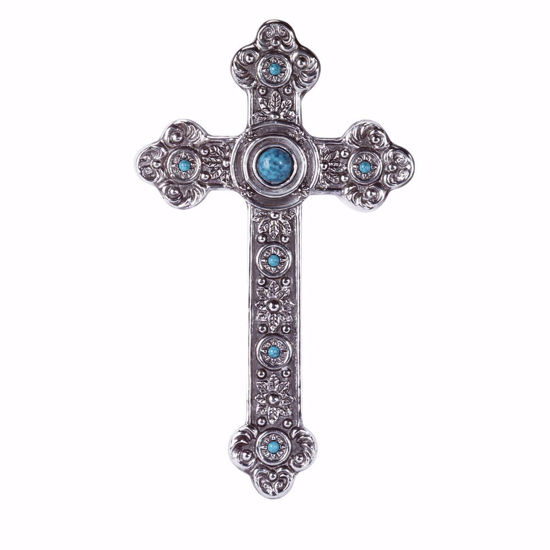 Picture of Silver and Turquoise Wall Cross
