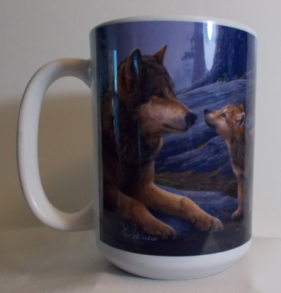 Picture of Wolf Brothers Ceramic Mug with Full-Sized Handle, 15-Ounce - Designer Daniel Smith