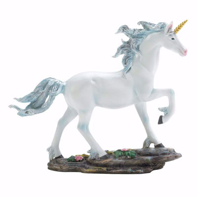 Picture of White Unicorn Figurine with blue Mane