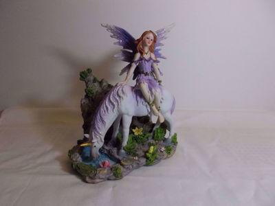 Picture of Lavender Fairy And Unicorn Figurine