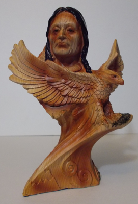 Picture of American Indian Bust  w/ Eagle