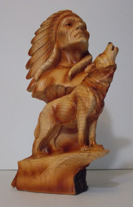 Picture of American Indian Chief and Howling  wolf