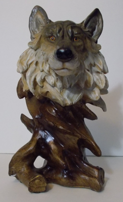 Picture of Grey Wolf 1 head Bust
