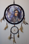 Picture of American Indian Maiden With Adult Wolf and cub Mandala - Dreamcatcher - by Andrew Farley