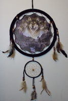Picture of Wolf pack night with Moon Mandala Scene – Dreamcatcher  -  by Al Agnew