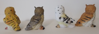 Picture of Colorful Nocturnal Cute Barn Great Horned Snowy & Screech Owl Chicks Figurine Set of 4 Collectible