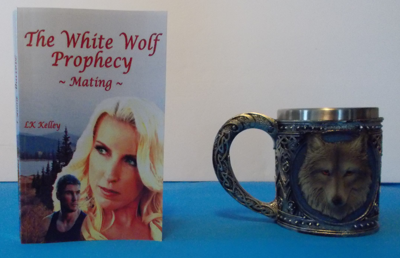 Picture of The White Wolf Prophecy - Mating - Book 1 By LK Kelley  (Book with Wolf Mug set)