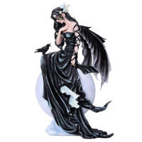 Picture of Dark Skies Fairy in Black with Raven