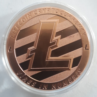 Picture of Litecoin CryptoCurrency Commemorative (1 oz. Copper Rounds) Coin